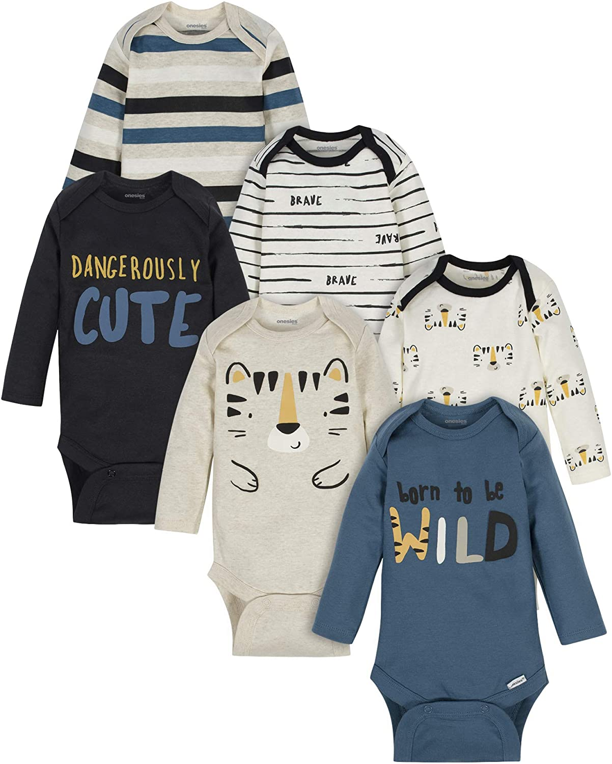 Onesies Brand baby-boys 6-pack Long Sleeve Bodysuits: Clothing, Shoes & Jewelry