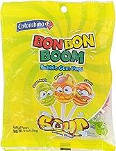 Colombina Bon Bon Boom Sour Bubble Gum Pops - 6-oz. Bag