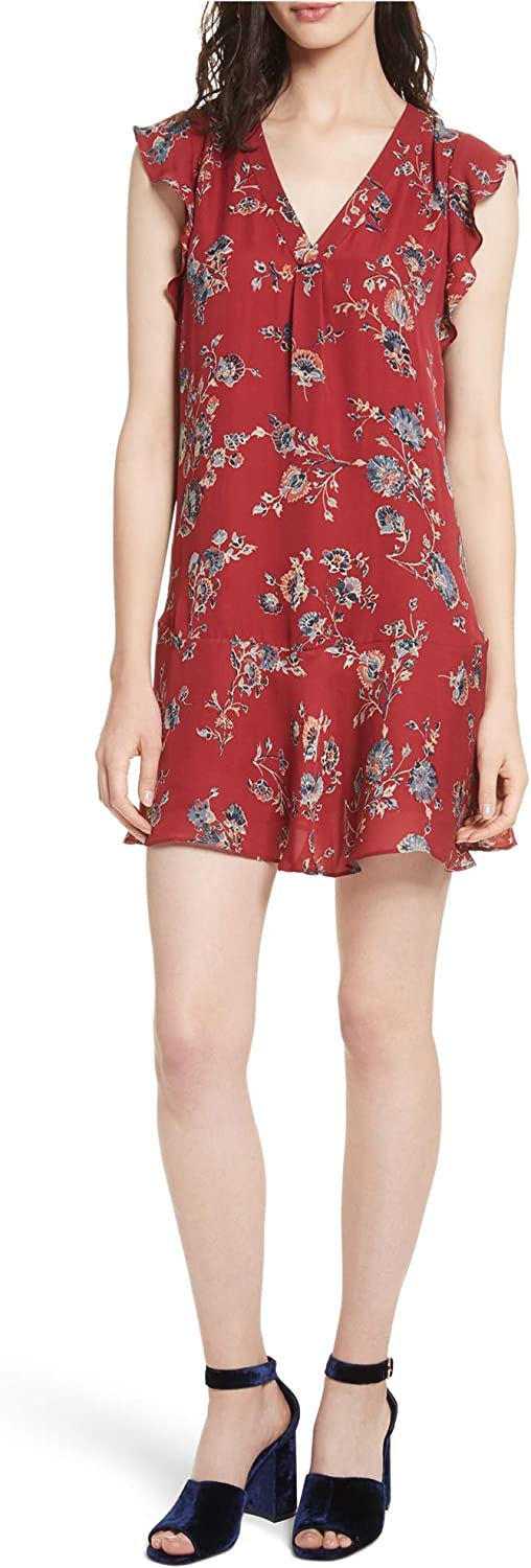 Joie Womens Almarie Floral Mini Dress