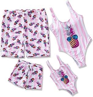d3c3ee2cd3640 2019 Family Swimwear One Piece Swimsuits Pineapple Printed Monokini for  Women Men Boy and Girl