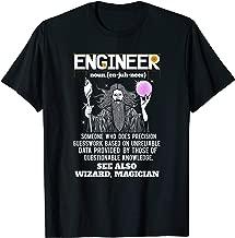Engineer Funny Mechanical Civil Engineering Wizard T Shirt