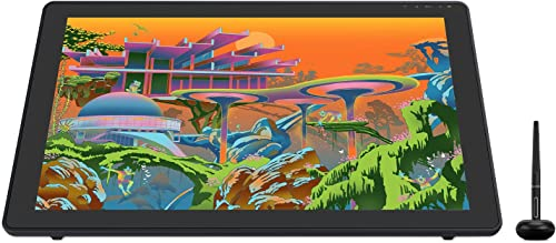 Tablet de desenho gráfico 2020 HUION Kamvas 22 Plus com tela LCD QD laminada completa 140% s RGB suporte Android Styl...