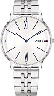 Tommy Hilfiger Men's Quartz Watch with Stainless Steel Strap, Silver, 20 (Model: 1791511)