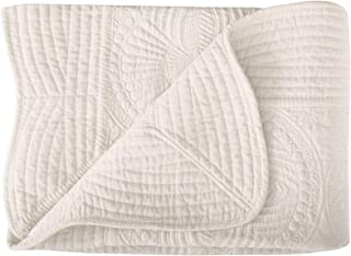 Lullaby Toddler Blankets All Weather Lightweight Warm Baby Quilt, Cream