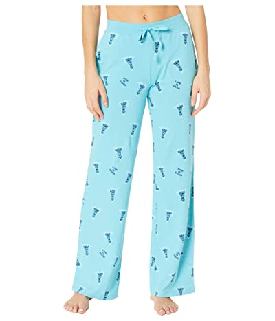 Life is Good Snuggle Up Sleep Pants (Coastal Blue Buoy Print) Women