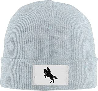 Men Women Soldier Ride Horse Warm Stretchy Knit Wool Beanie Hat Solid Daily Skull Cap Outdoor Winter
