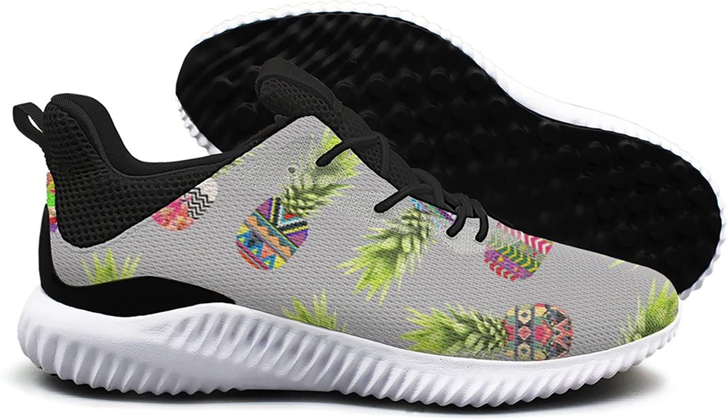 Pineapple Party On Light Grey Wallpaper Leisure Casual Running shoes Woman Net Climbing Cute