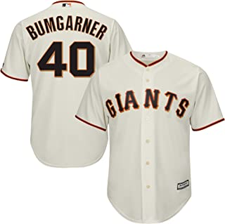 Madison Bumgarner San Francisco Giants Cream Youth 8-20 Cool Base Home Replica Jersey