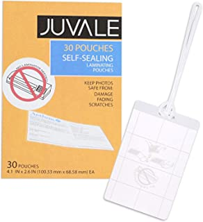 Juvale 30-Pack Self-Seal Laminating Pouches for Luggage Tags, 4 x 2.5 Inches