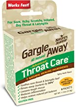 Gargle Away Comprehensive Throat Care, 6-PK   Natural Sore Throat Remedy, Mucus Relief, Singer's Throat Gargle