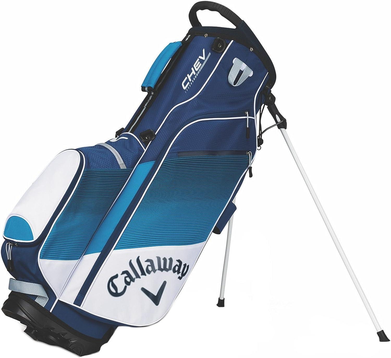 Callaway Chev Stand Bag, White blueee Navy, Medium