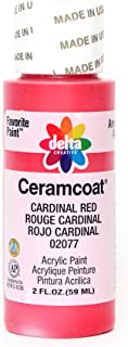 Delta Creative Ceramcoat Acrylic Paint in Assorted Colors (2 oz), 2077, Cardinal Red