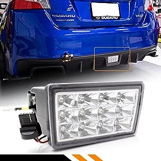 Fits for 2011-2017 Subaru WRX STi XV F1 Style Rear Bumper LED Fog Light 3rd Brake Lamp W/Clear Lens