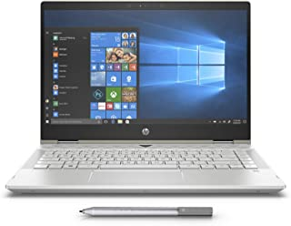 HP Pavilion x360 14-cd1006ne, 2 in 1 Laptop, Intel Core i5-8265U, 14 Inch, 1TB HDD + 128GB SSD, 8GB RAM, Intel UHD Graphics, Win 10, Eng-Ara KB, Gold
