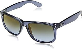 Óculos de Sol Ray Ban Justin Rb4165 6341t0/55 Azul Transparente