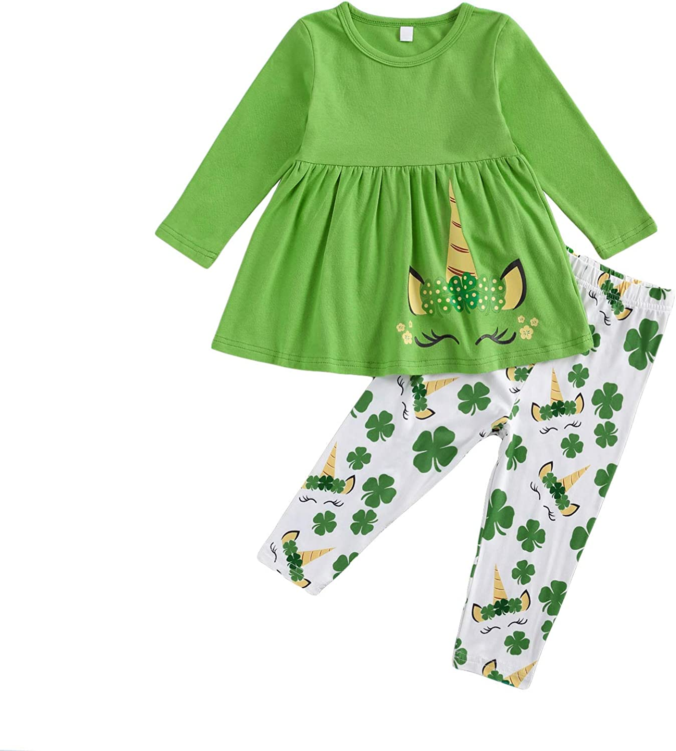 Toddler Little Max 64% OFF Girl Saint Patrick ' Clothes Unic Day Sleeve Regular discount Long