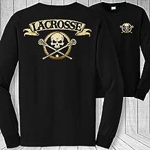 Lacrosse Skull and Crossbones Long Sleeve Shirt