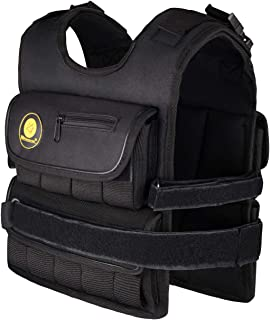 K2Elite Weighted Vest Short & Narrow Style for Men 10lbs~60lbs Adjustable Cross-fit Training Workout Black