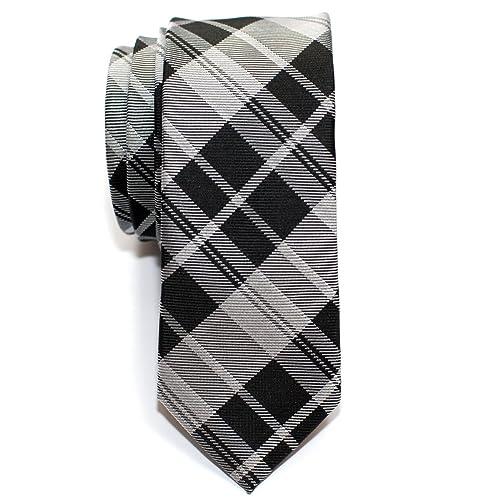 66a05465dc3e Retreez Modern Tartan Check Styles Woven Microfiber Skinny Tie - Various  Colors