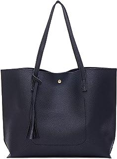 Myhozee Borsa Donna Tracolla Shopper Ladies Borse a spalla Borse a Mano Borse in PU Leather Borse Semplice Borse Tote Bors...