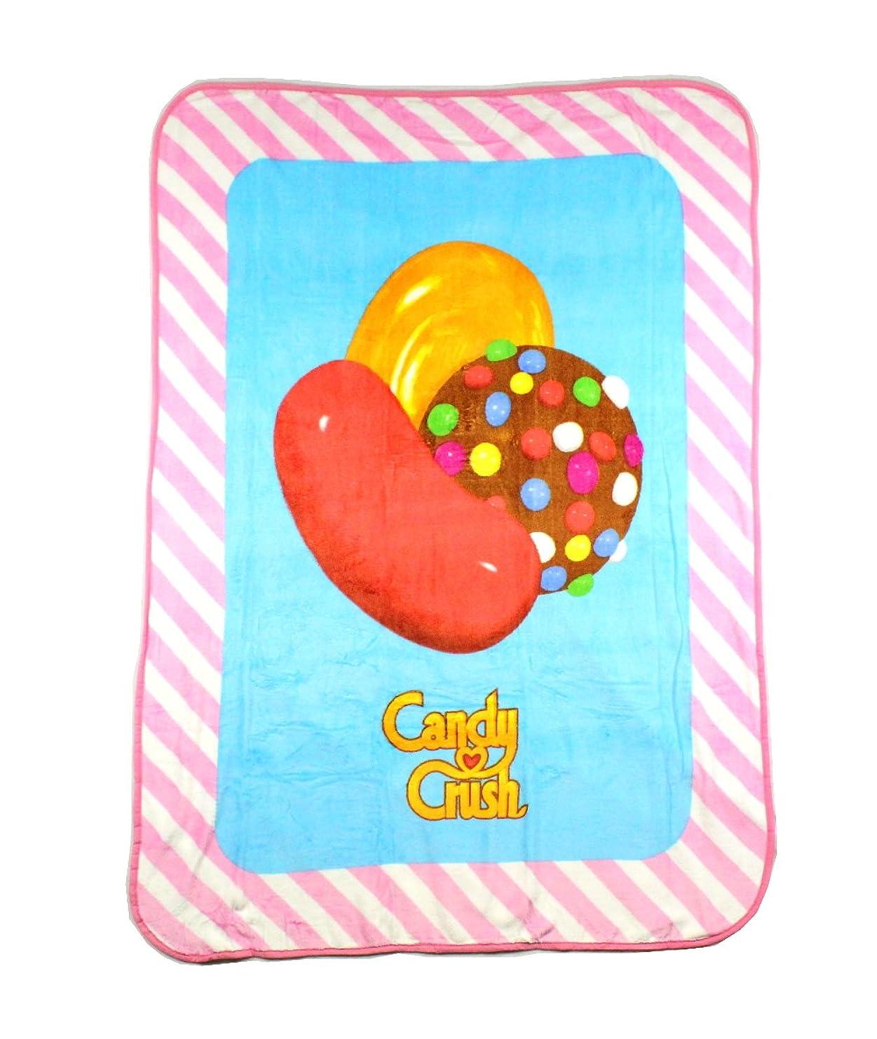 混合ファンド絶滅キャンディクラッシュ Candy Crush 子供用 シェルパスローブランケット 46 x 60インチ