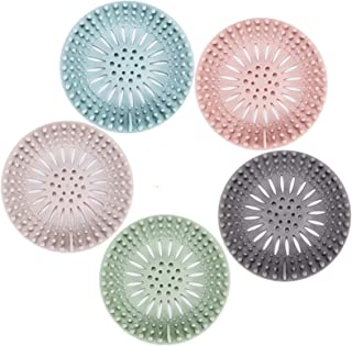 Best Hair Catcher Durable Silicone Hair Stopper Shower Drain Covers Easy to Install and Clean Suit for Bathroom Bathtub and Kitchen 5 Pack Reviews