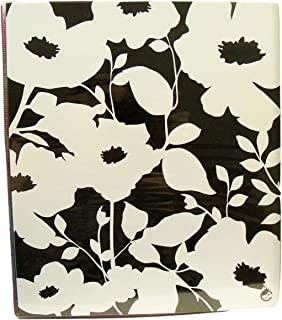 Carolina Pad Studio C Fashionista Collection 1 Inch O-Ring Vinyl Binder with Pockets (White Flowers on Black, 10 Inches x 11.5 Inches)