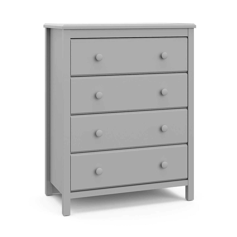 Storkcaft 70% OFF Outlet Alpine 4 Boston Mall Drawer Dresser Gray Stylish Pebble Storag