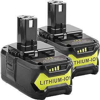 5000mAh Ryobi 18V Lithium Battery Replacement for Ryobi 18-Volt 18L50 ONE+ P104 P105 P102 P103 P107 P108 P109 Tool (18V 50...