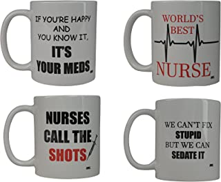 2098505c189 Funny Murse Coffee Mug Gift Set Best Novelty Cup Gift Idea For Nurse Doctor  CNA RN