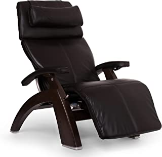 Perfect Chair Human Touch PC-610 Live Omni-Motion Dark Walnut Zero-Gravity Recliner Premium Leather Fluid-Cell Cushion Memory Foam Jade Heat - Espresso Premium Leather - in-Home White Glove Delivery