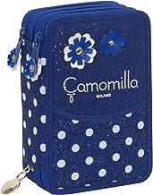 Blu pennarelli/… matite Con materiale scolastico per la scuola: penne Quick Case Camomilla