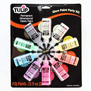 Tulip 28392 Dimensional Glow Party Kit Fabric Paint, Multi