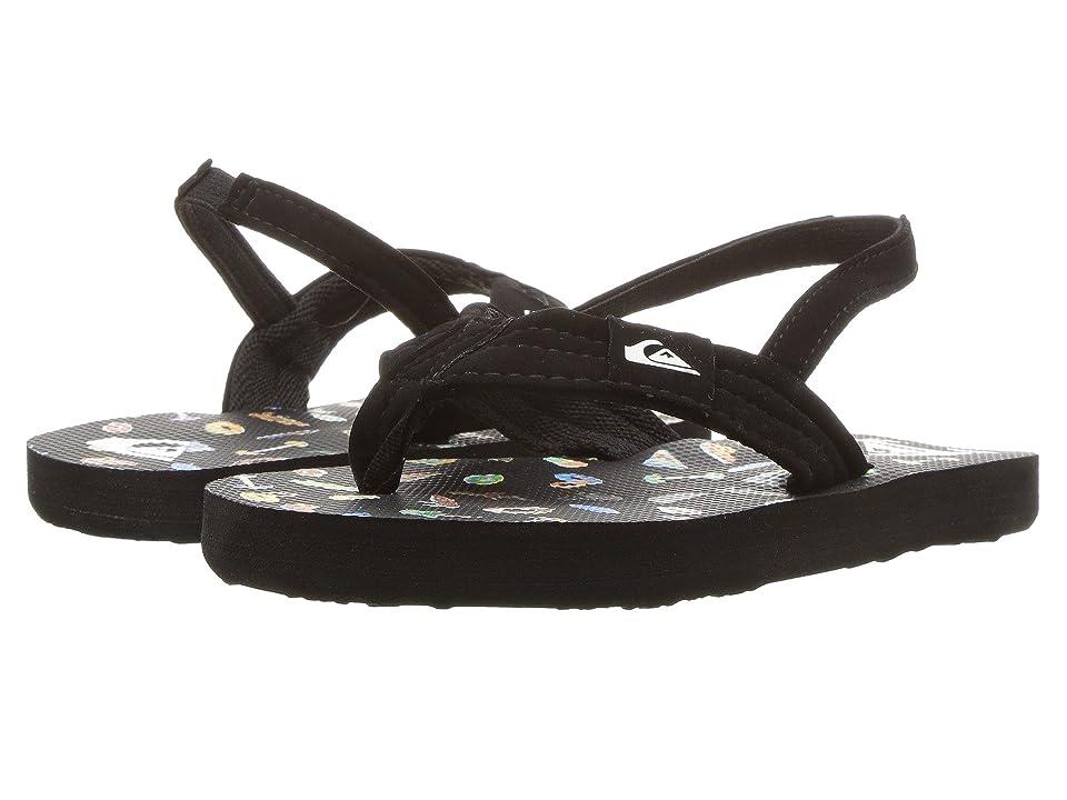 Quiksilver Kids Molokai Layback (Toddler) (Black/Black/White) Boys Shoes