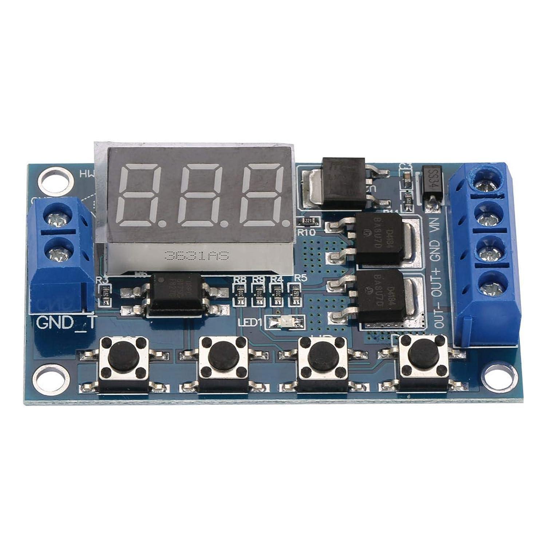 Interruptor de temporizador de retardo, módulo de relé de retardo de encendido y apagado, interruptor de temporizador de retardo de ciclo de señal de pulso de 12 V-24 V Placa de control MOS dual