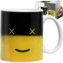Cool Color Changing Magic Mug - Funny Coffee & Tea Unique Heat Changing Sensitive Cup 12 oz Yellow Happy Face Design Drink...