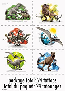 Jurassic World Temporary Tattoos (4 sheets)