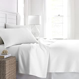 Beckham Hotel Collection 1500 Series Luxury Soft Brushed Microfiber Bed Sheet Set Deep Pocket - Queen - Pure White