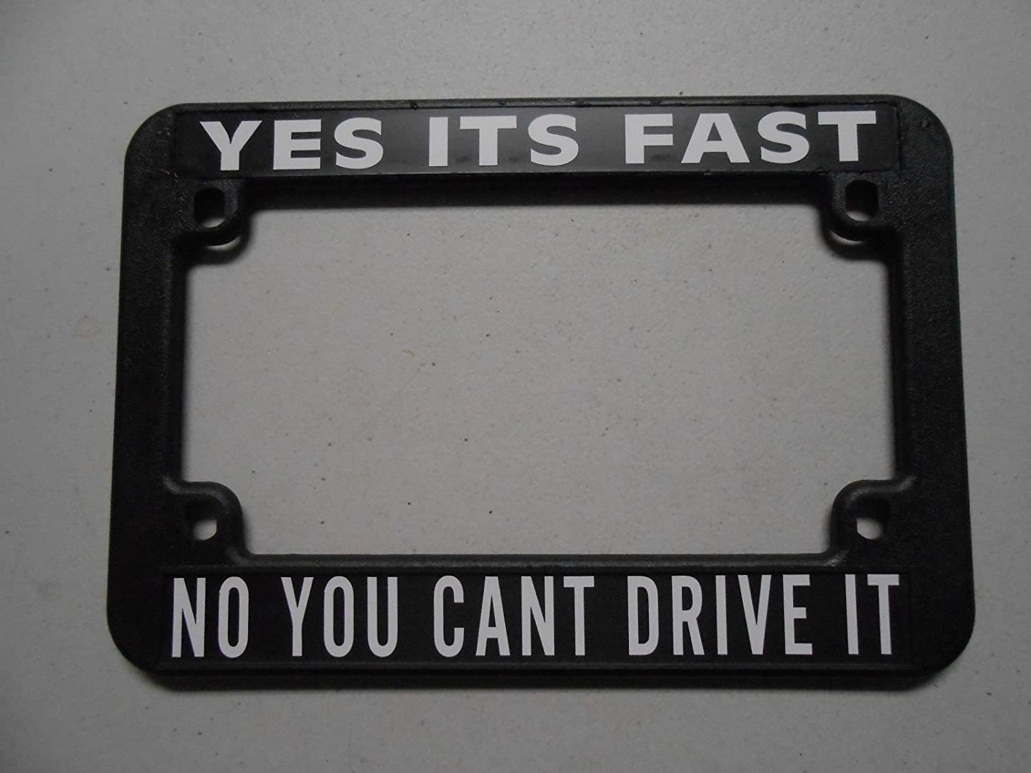 MOTORCYCLE LICENSE PLATE FRAME HOLDER YES Columbus Mall NO FAST ITS National uniform free shipping D YOU CANT