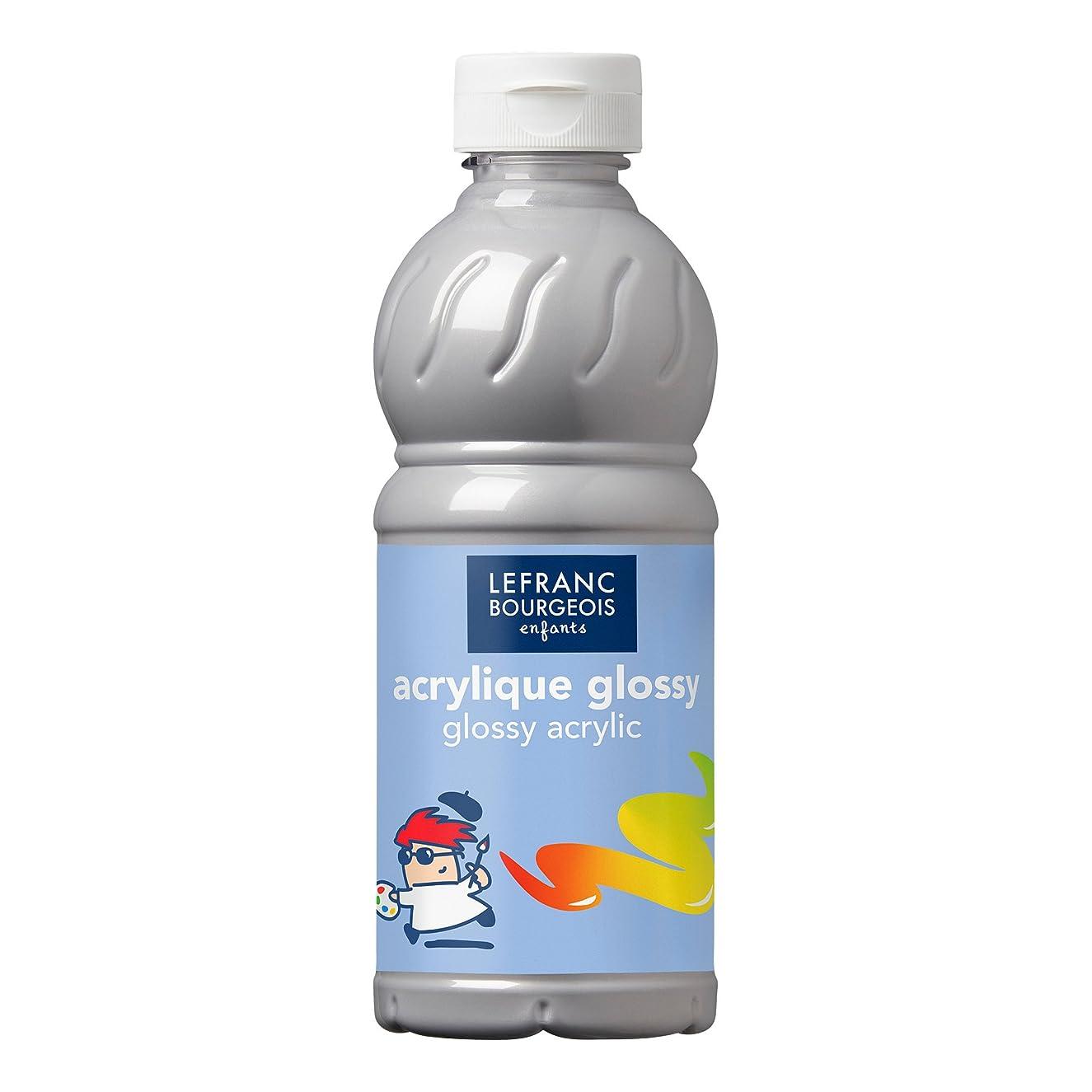 Lefranc & Bourgeois Glossy Children Acrylic 250?ml Tube, Acrylic Paint, Silver, Kinder - Acrylfarbe - 500ml Flasche