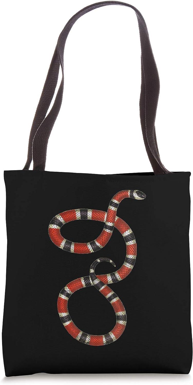 Serpent Red Black Coral Snake Educational vintage Tote Bag