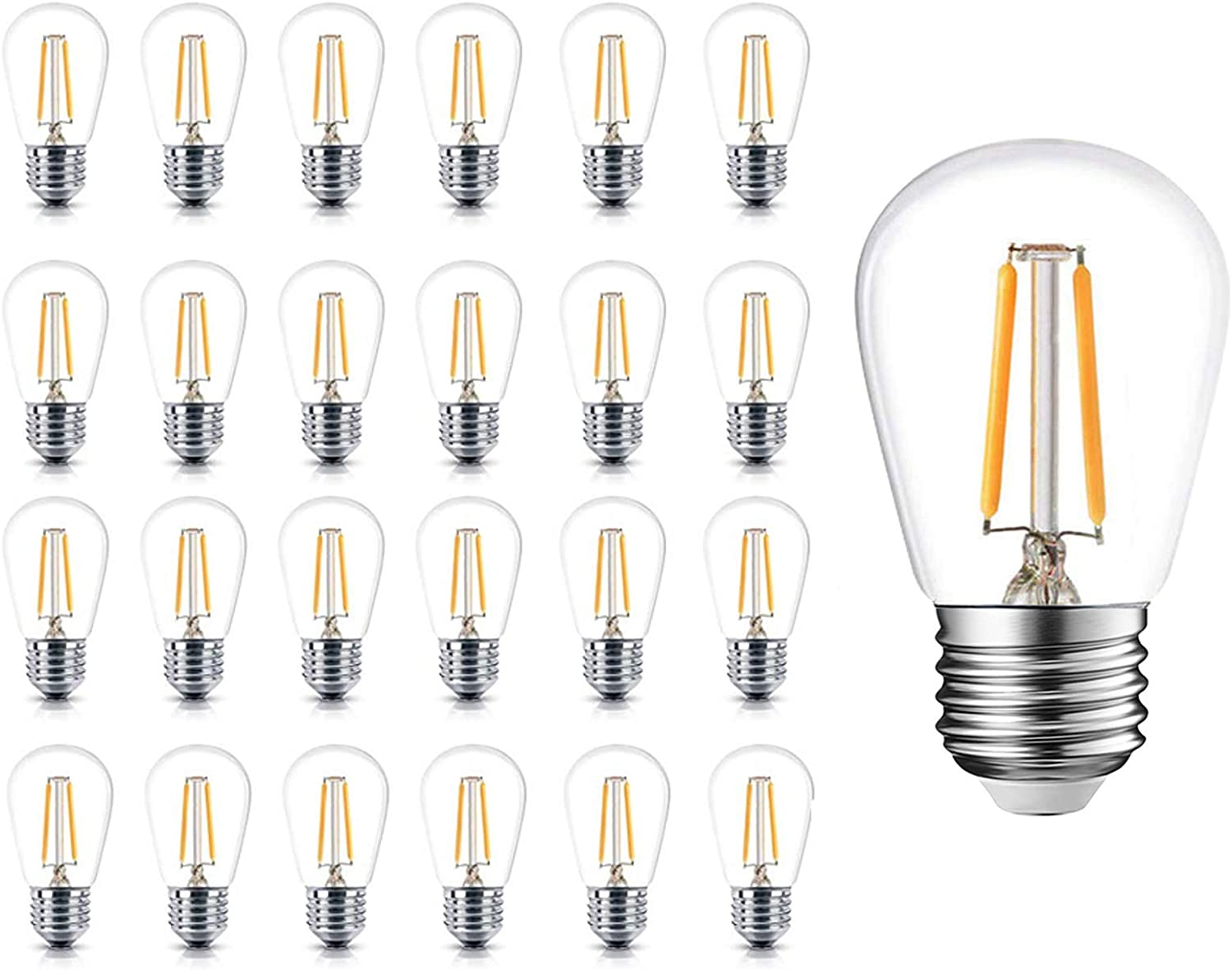 Newpow S14 Led Light Bulbs Glass Pack Dimmable Super-cheap Edison Super Special SALE held 24