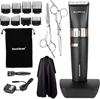 BuySShow Quiet Professional Hair Clippers Set Cordless Rechargeable Hair clippers for Men..