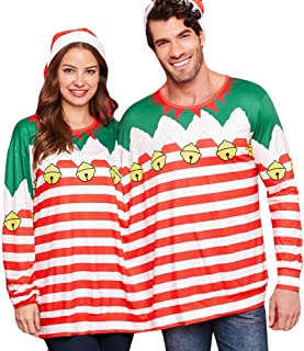 Forthery Men Women Two Person Ugly Christmas Sweater Funny Sweatshirt Pullover Jumper Sweatshirt