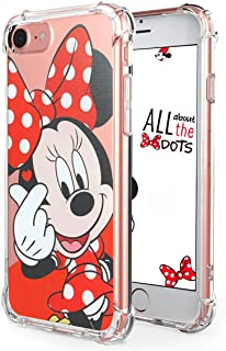 """Logee TPU Minnie Mouse Cute Cartoon Clear Case for iPhone 6 /6S 4.7"""",Fun Kawaii Animal Soft Protective Cover,Ultra-Thin Shockproof Funny Character Chic Cases for Kids Teens Girls Boys(iPhone6)"""