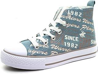 191d877ab1f55b BH4026 Beverly Hills Polo Club Boy/Girl HI Top Logoprint Sneekers in Blue  Jeans >