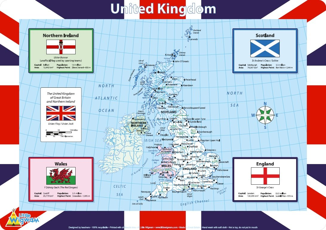 Little Wigwam United Kingdom Placemat