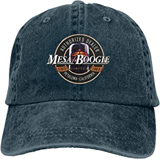 Yearzimn Unisex Mens&Women Denim Adjustable Baseball Cap Print with Mesa Boogie Washed Hats
