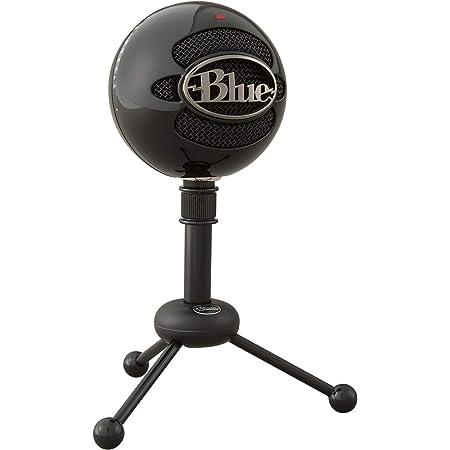 Blue Micrófono USB Snowball, micrófono clásico de calidad de estudio para grabación, podcasting, radiodifusión, retransmisión de gaming en Twitch, locuciones, vídeos de YouTube en PC y Mac - Negro