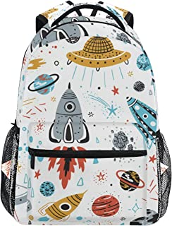 Mochila escolar bolsa portátil bolsas de viaje para niños, niñas, mujeres, hombres, planeta, estrellas, luna, sol, cohetes, galaxia, universo espacial